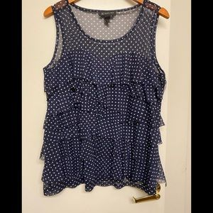 Women's sleeveless Polkadot blouse size 2X